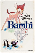 """Movie Posters:Animation, Bambi & Other Lot (Buena Vista, R-1982). Posters (3) (40"""" X 60""""). Animation.. ... (Total: 3 Items)"""