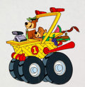 Animation Art:Color Model, Fender Bender 500 Yogi Bear and Boo-Boo Color Model Cel (Hanna-Barbera, 1990)....