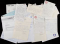 Baseball Collectibles:Others, Baseball Hall of Famers and Greats Letters, Etc. Lot of 10+. ...