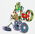Animation Art:Color Model, Fender Bender 500 Wally Gator and Magilla Gorilla Color Model Cel (Hanna-Barbera, 1990)....