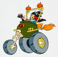 Animation Art:Color Model, Fender Bender 500 Winsome Witch and Lucky Color Model Cel(Hanna-Barbera, 1990)....