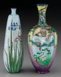 Asian:Japanese, Two Japanese Cloisonné Vases, 20th century. 7-5/8 inches high (19.4cm). ... (Total: 2 Items)