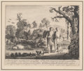 Fine Art - Work on Paper:Print, Jan van de Velde (Dutch, 1583-1641). Tobias and the Angel (two works). Etching on paper. 6-3/4 x 8-1/4 inches (17.1 x 21... (Total: 2 Items)