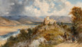 Paintings, William Oliver (British, 1804-1853). The Pyrenees. Oil on canvas. 19-1/4 x 32-1/4 inches (48.9 x 81.9 cm). Signed and ti...