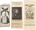 Political:Memorial (1800-present), William Henry Harrison: Three Silk Mourning Ribbons.... (Total: 3 Items)