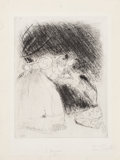 Fine Art - Work on Paper:Print, Marc Chagall (French/Russian, 1887-1985). Untitled, fromLes Ames Mortes by Nicolas Gogol, 1923-1927. Etchingon...
