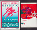 Olympic Collectibles:Autographs, 1992 and 1996 Summer Olympics Posters Lot of 2....