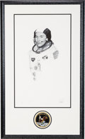 Explorers:Space Exploration, Michael Collins Signed Limited Edition Thomas Smith Print in the Paul Calle Style, #8/50, in Framed Display with Mission Insig...
