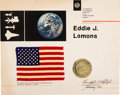Explorers:Space Exploration, Apollo 17 Flown Flag on Presentation Certificate. ...