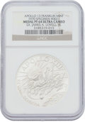 Explorers:Space Exploration, Apollo 13 Unflown NGC-Encapsulated PF64 Ultra Cameo Franklin Mint Silver Medal, Serial Number 0021, Originally from the Person...