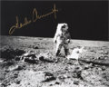 Autographs:Celebrities, Charles Conrad Signed Photo of Him Working on the Lunar Surface....