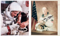 "Autographs:Celebrities, Tom Stafford Signed Gemini White Spacesuit Color Photos (Two), One an Original NASA ""Red Number"" Example.... (Total: 2 Items)"
