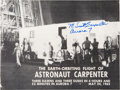 "Explorers:Space Exploration, Scott Carpenter Signed 1962 NASA Publication ""The Earth-OrbitingFlight of Astronaut Carpenter"". ..."
