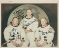 "Explorers:Space Exploration, Apollo 11 Crew-Signed White Spacesuit Color ""Red Number"" Photo Originally from the Collection of Walter ""Kappy"" Kapryan. ..."