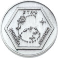 Explorers:Space Exploration, Gemini 6A Flown Silver-Colored Fliteline Medallion....