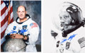Autographs:Celebrities, Tom Stafford Signed Apollo 10 Spacesuit Photos (Two).... (Total: 2Items)