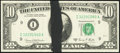 Error Notes:Ink Smears, Fr. 2021-I $10 1969C Federal Reserve Note. Choice CrispUncirculated.. ...