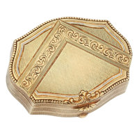 Art Deco Enamel, Gold Pill Box