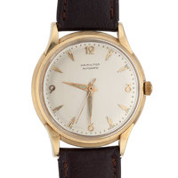 Hamilton 14k Gold Automatic Wristwatch