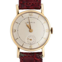 Benrus 14k Gold Manual Wind Wristwatch
