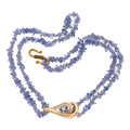 Estate Jewelry:Necklaces, Tanzanite, Diamond, Gold, Base Metal, Pendant-Necklace. ...