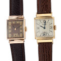 Timepieces:Wristwatch, Le Coultre & Swiss Gold Filled Wristwatches. ... (Total: 2 Items)