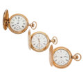 Timepieces:Pocket (post 1900), Three Gold Filled Hunter Case Pocket Watches. ... (Total: 3 Items)