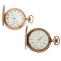 Timepieces:Pocket (post 1900), Two Elgin Hunter Case Pocket Watches. ... (Total: 2 Items)