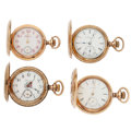 Timepieces:Pocket (post 1900), Four Gold Filled Hunter Case Pocket Watches. ... (Total: 4 Items)