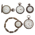 Timepieces:Pocket (post 1900), Five Sterling Silver Pocket Watches. ... (Total: 5 Items)