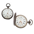 Timepieces:Pocket (post 1900), Two Swiss Sterling Silver Pocket Watches. ... (Total: 2 Items)