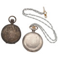 Timepieces:Pocket (post 1900), Waltham & New York Watch Co. Silver Pocket Watches. ... (Total:2 Items)