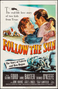 "Movie Posters:Sports, Follow the Sun (20th Century Fox, 1951). One Sheet (27"" X 41""). Sports.. ..."