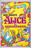 "Movie Posters:Animation, Alice in Wonderland (Buena Vista, R-1974). One Sheet (27"" X 41""). Animation.. ..."