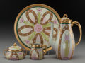 Ceramics & Porcelain, American:Modern  (1900 1949)  , A Four-Piece Pickard China Alice Pattern Partial Gilt Porcelain Coffee Service, Antioch, Illinois, circa 1915. M... (Total: 4 Items)