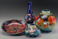 Ceramics & Porcelain, British:Modern  (1900 1949)  , A Group of Four Moorcroft Pottery Smalls, Burslem (Stoke-on-Trent),England, circa 1916-1934. Marks to largest: Moorcroft,...(Total: 4 Items)