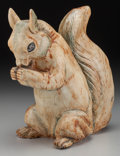 Ceramics & Porcelain, American:Modern  (1900 1949)  , A Weller Ceramic Garden Squirrel, Zanesville, Ohio, circa 1920.Marks: WELLER POTTERY (effaced). 12 inches high (30.5 cm...
