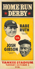 Baseball Collectibles:Others, 2015 Babe Ruth vs. Josh Gibson Home Run Derby Original Artwork by Arthur Miller....