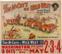 Wild West Shows: 1932 Large Colonel Tim McCoy Poster
