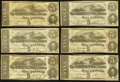 Confederate Notes:Group Lots, T60 $5 1863. Six Examples.. ... (Total: 6 notes)