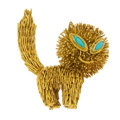 Estate Jewelry:Other , Turquoise, Gold Cat. ...