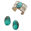Estate Jewelry:Lots, Turquoise, Sterling Silver, Silver Jewelry. ... (Total: 3 Items)