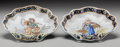 Ceramics & Porcelain, Continental:Antique  (Pre 1900), A Pair of Porquier-Beau Quimper Ceramic Shell-Form Dishes, circa 1875-1903. Marks: PB (in blue underglaze). 8-3/4 h x 8-... (Total: 2 Items)