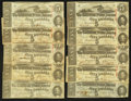 Confederate Notes:Group Lots, T60 $5 1863. Ten Examples. ... (Total: 10 notes)