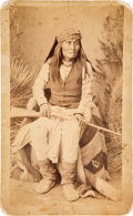 Photography:Cabinet Photos, Apache Chief Mangas: A Scarce Oversized Cabinet Photo by Wittick....
