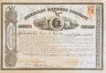 Miscellaneous:Ephemera, 1866 American Express Stock Certificate Signed by Wells andFargo....