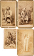 Photography:Cabinet Photos, Early Apache Albumen Photos.... (Total: 4 Items)
