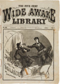 "Books:Pulps, The Five Cent Wide Awake Library, ""The James Boys and theVigilantes"" by D. W. Stevens, November 14, 1881. ..."
