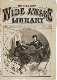 "The Five Cent Wide Awake Library, ""The James Boys and the Vigilantes"" by D. W. Stevens, November 14, 18"