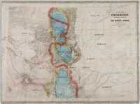 Large Color-tinted 1865 Map of Colorado Territory
